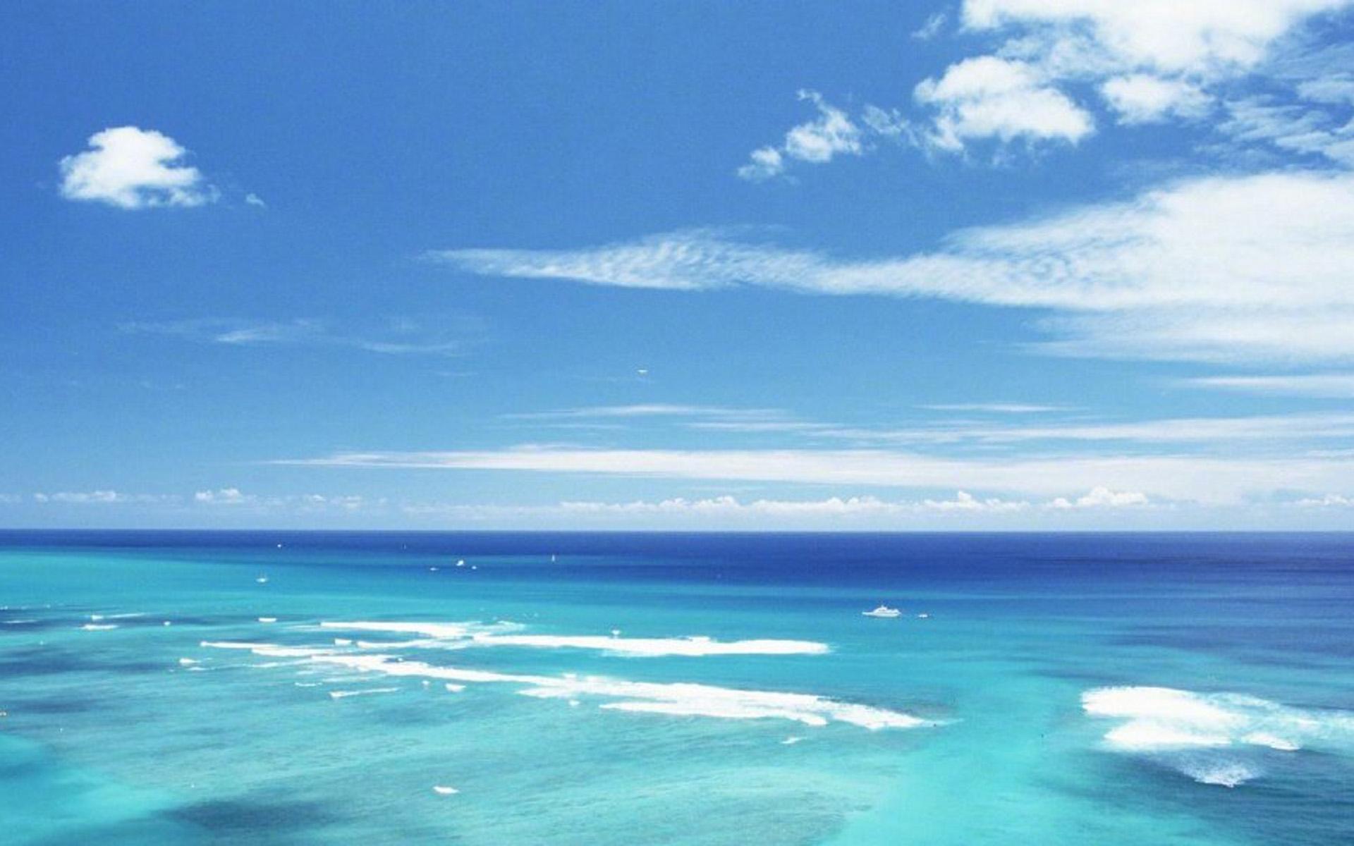 碧海蓝天唯美风景桌面壁纸下载