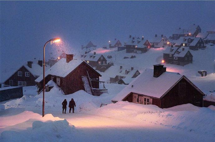 美丽的小村庄冬天高清雪景摄影图片大全