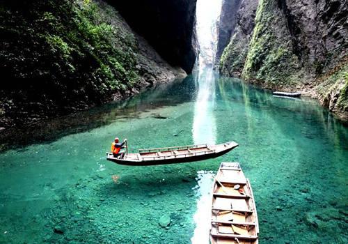 湖北恩施鹤峰屏山峡谷旅游风景图片大全