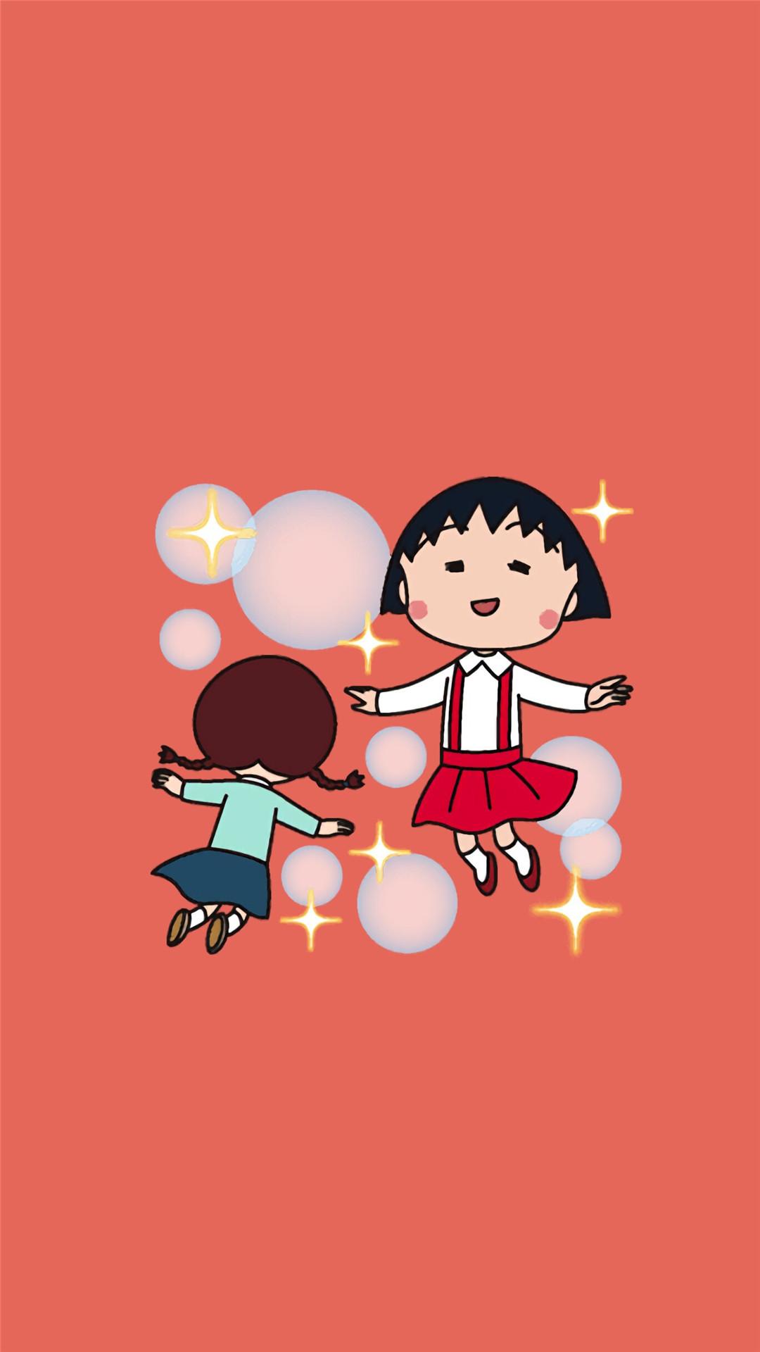 日本动漫樱桃小丸子精美三星手机壁纸大全