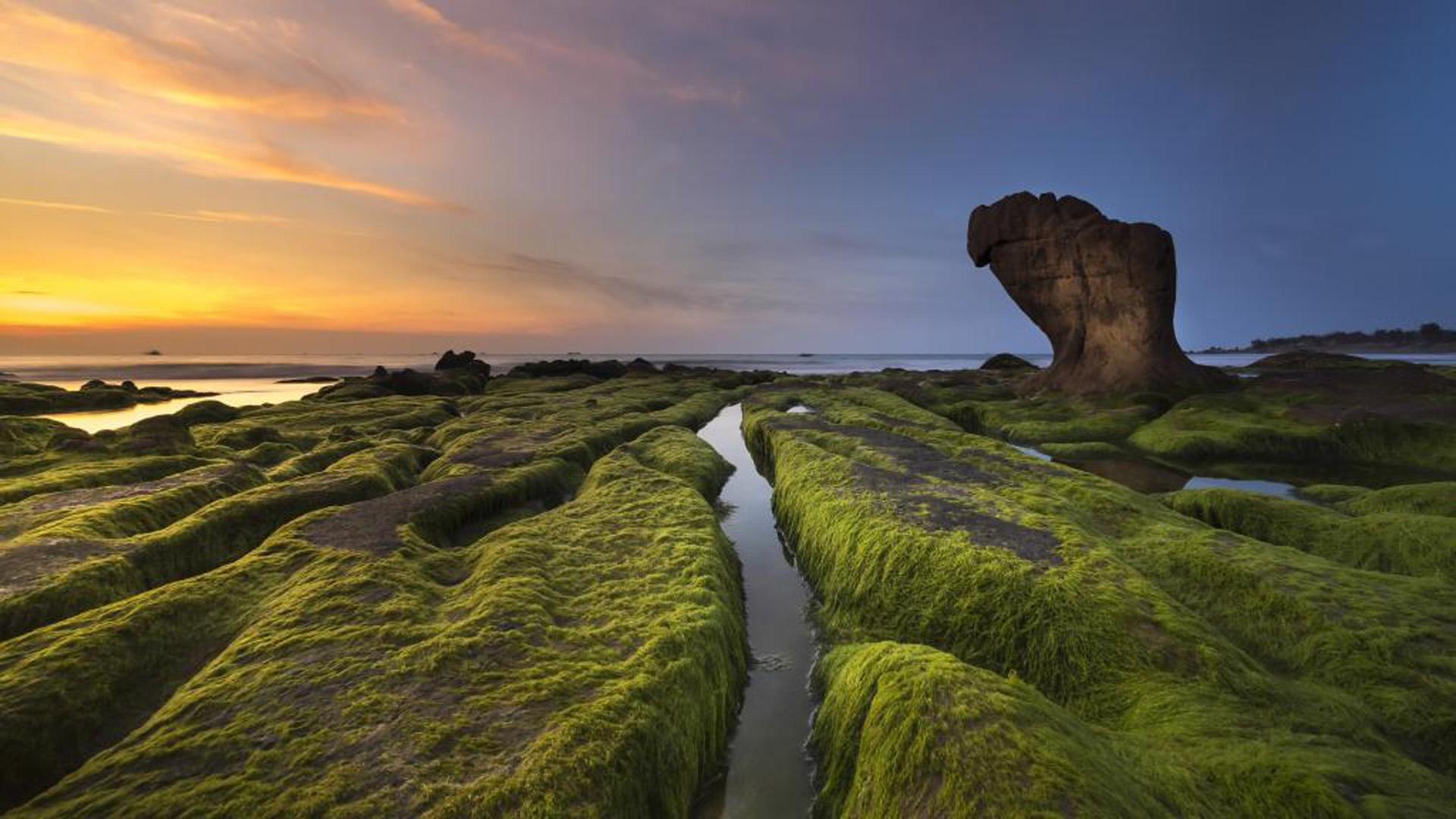 最美蓝色海岸线山水风景搜狗桌面壁纸大全