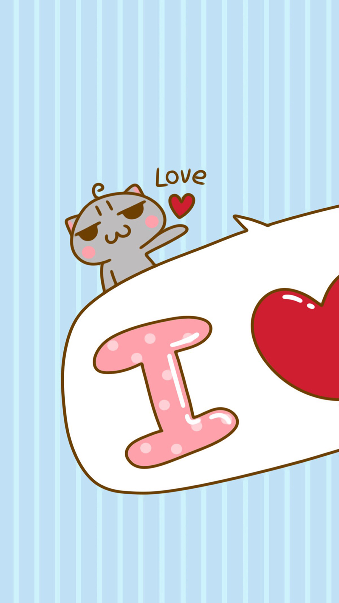 超可爱卡通少女心简约插画女生好看的手机锁屏壁纸图片