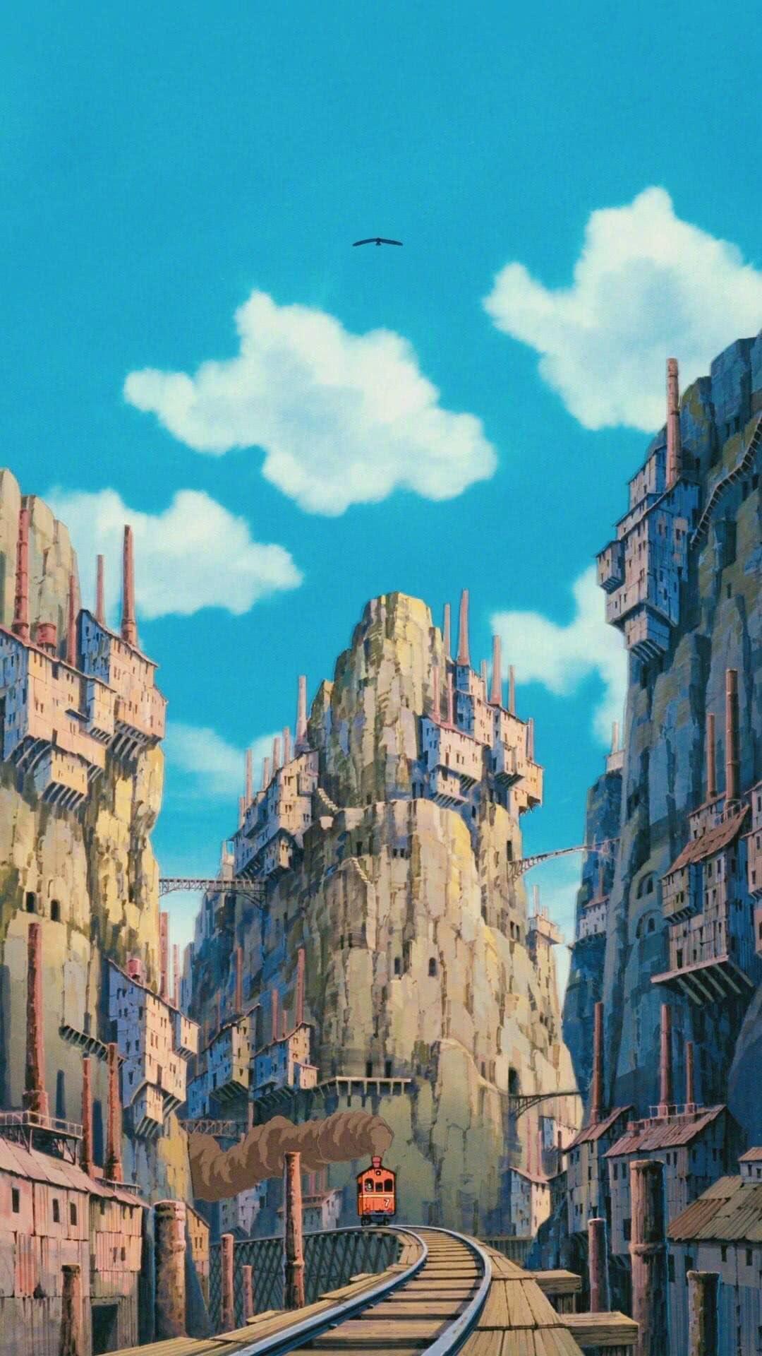 宫崎骏动漫场景原画高清手机桌面壁纸