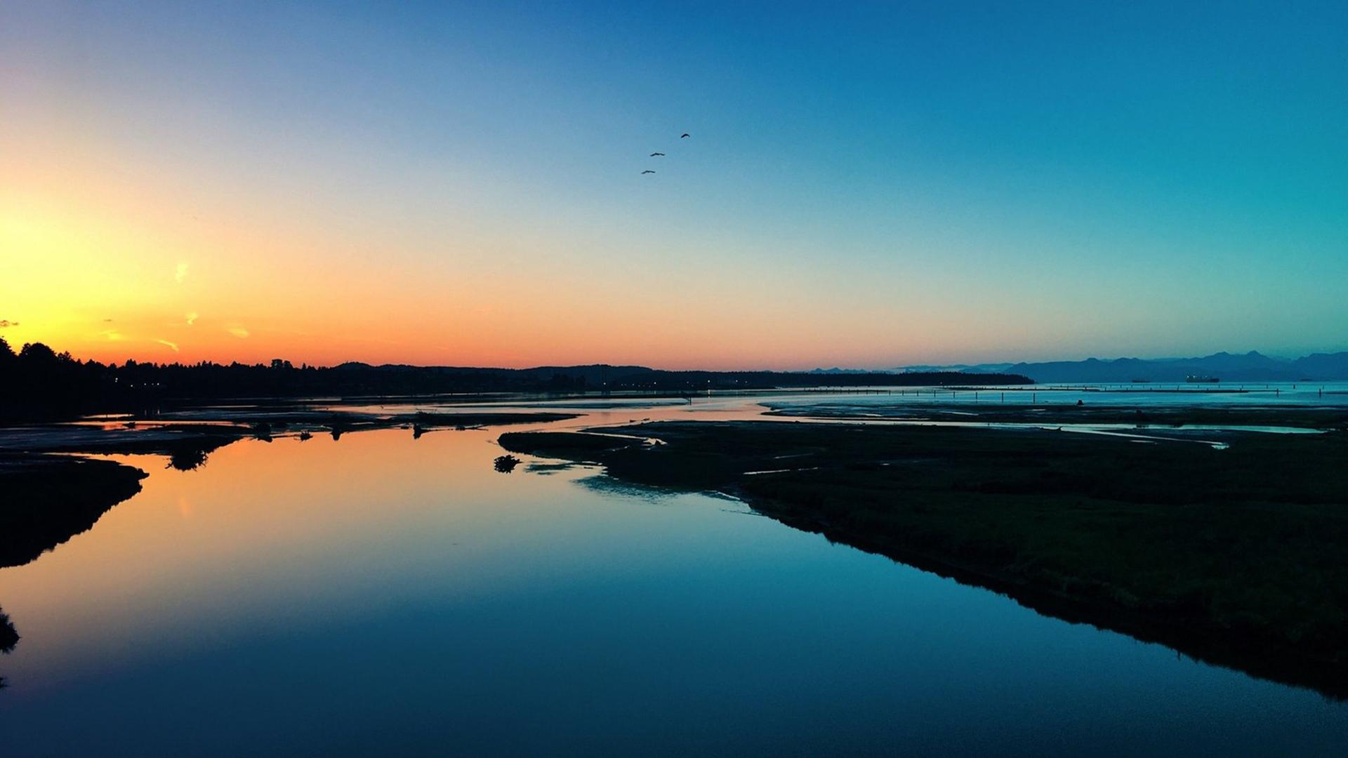 精美的落日夕阳浪漫美景电脑桌面
