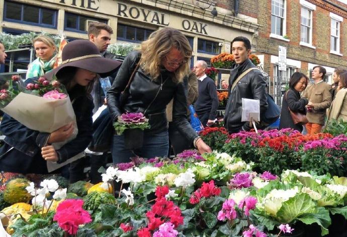 英国伦敦哥伦比亚路鲜花集市图片大全