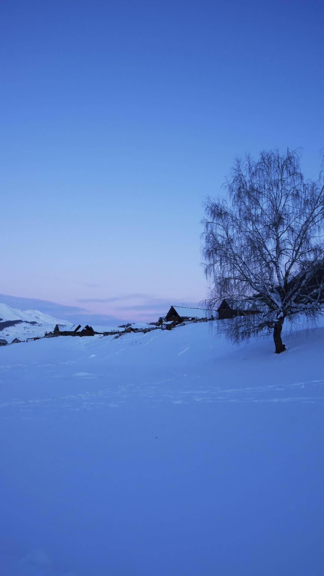 铁力士雪山风景图片三星手机壁纸下载