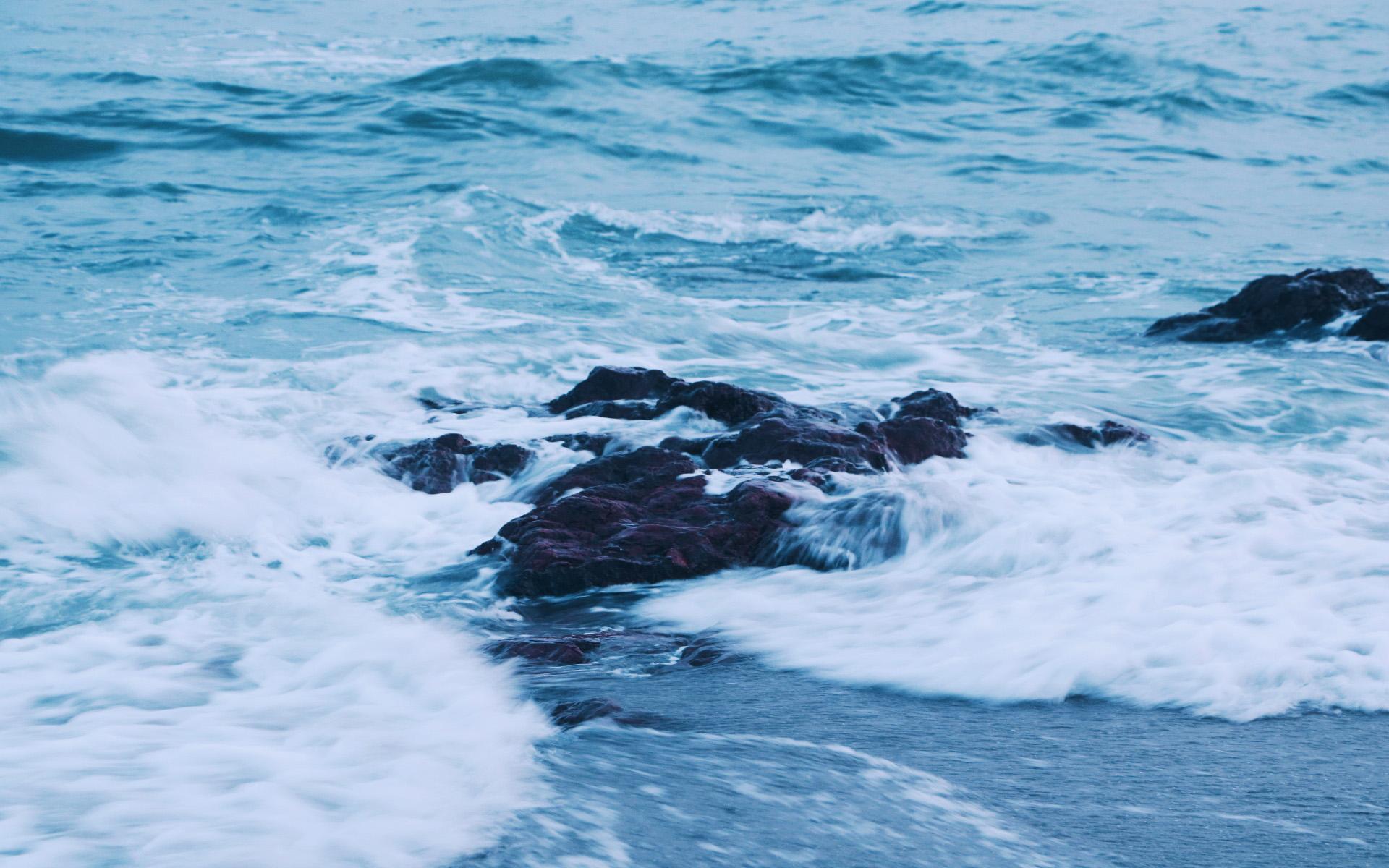 海浪的声音风景图片电脑桌面壁纸全屏