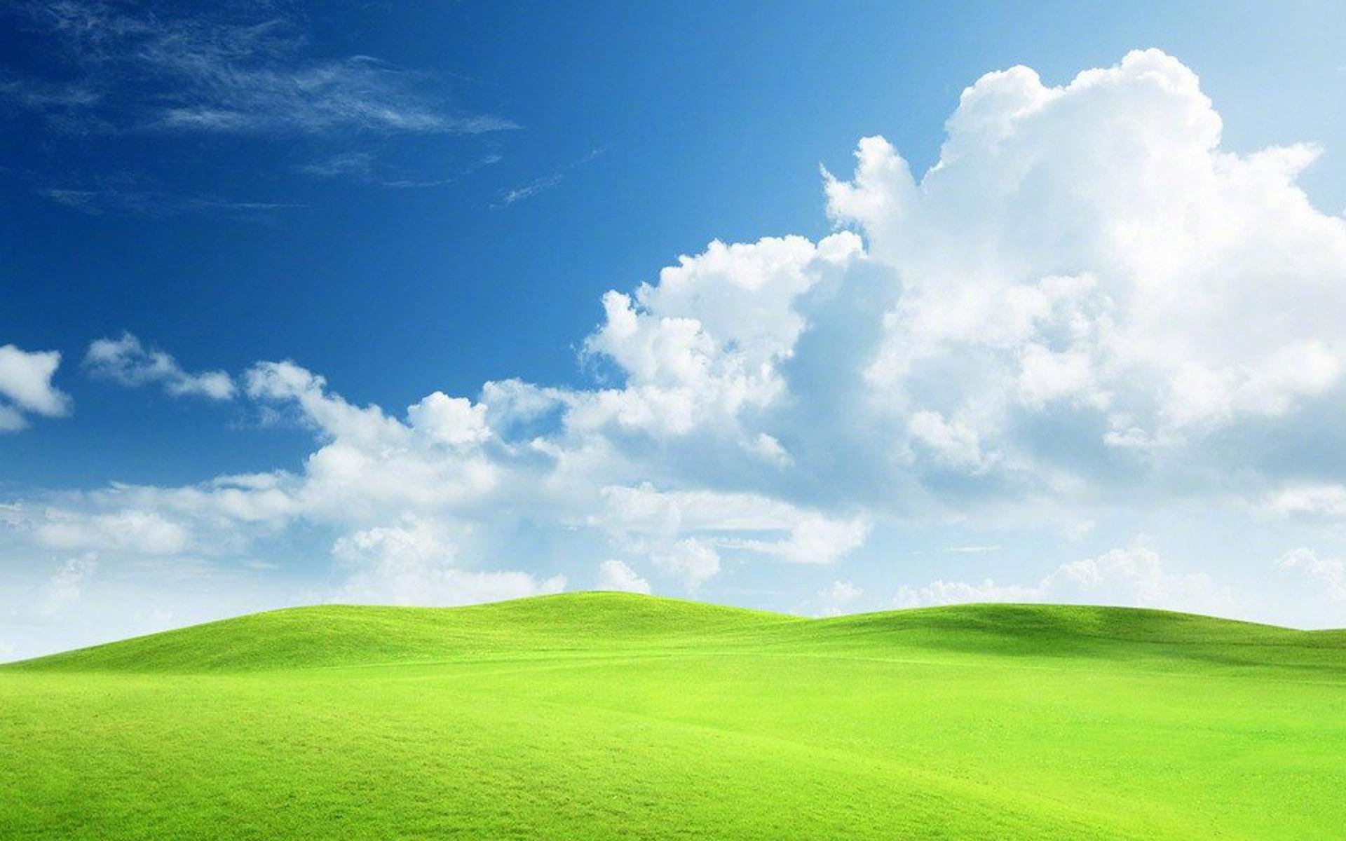 绿草地图片唯美风景经典桌面壁纸下载