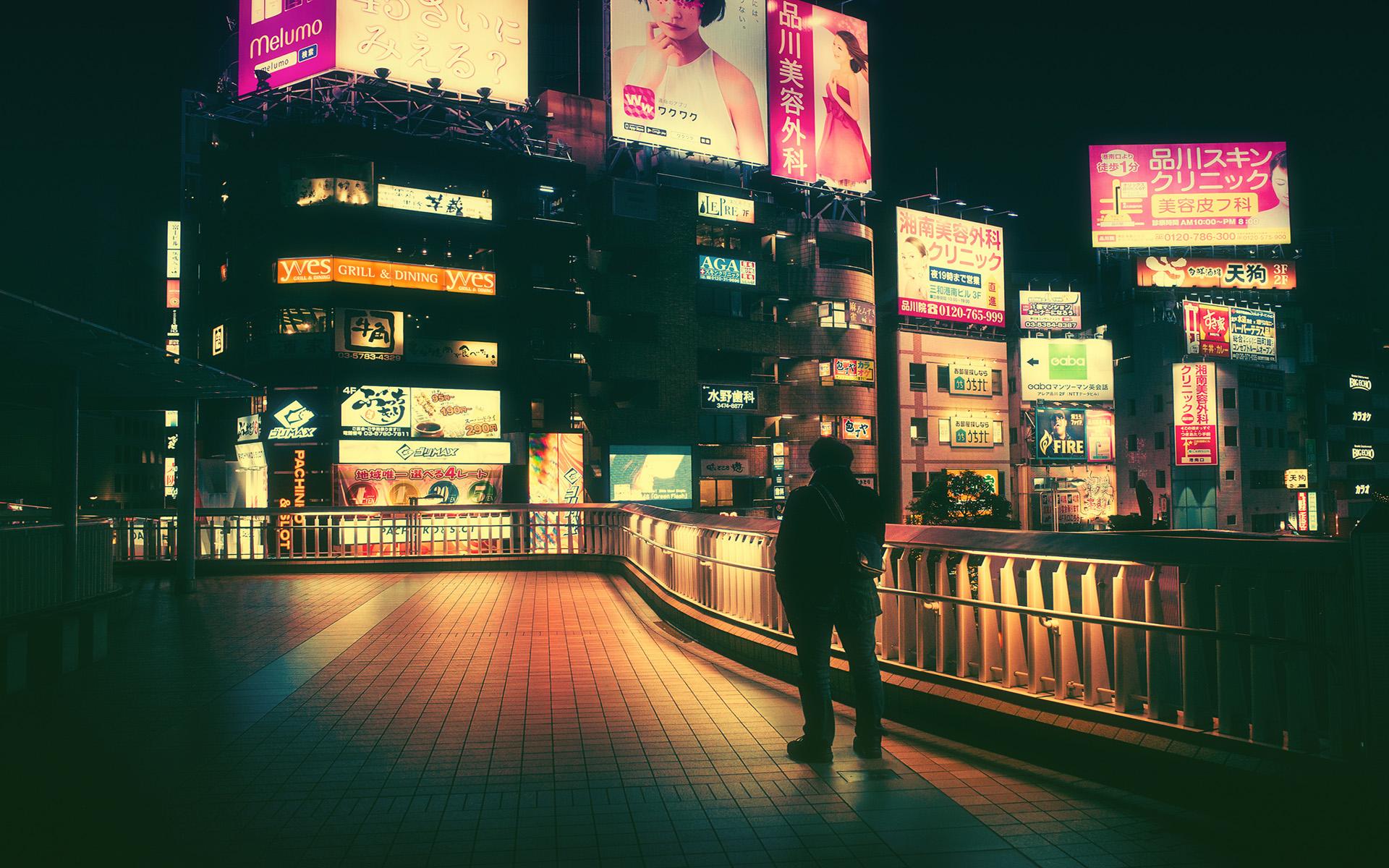 日本东京夜景图片电脑桌面壁纸大图
