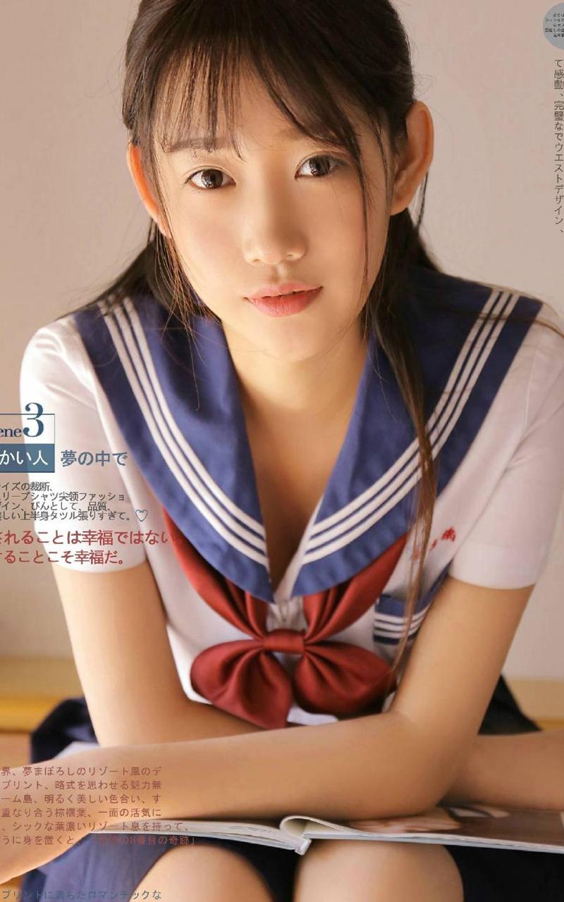 水手制服美女学生妹日系文艺写真摄影