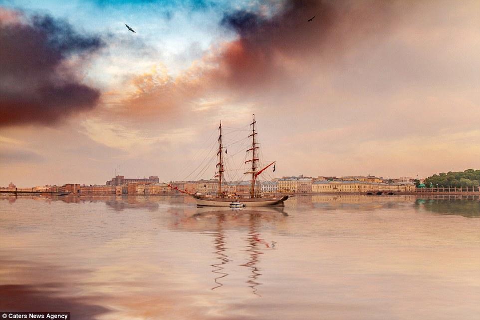 圣彼得堡唯美风景图苹果手机高清壁纸