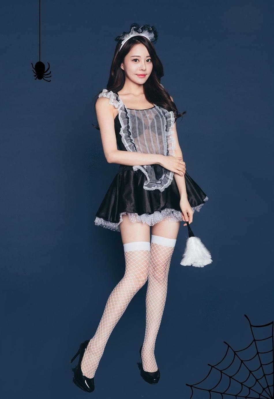 韩国顶级美女模特演员金敏英万圣节写真图片