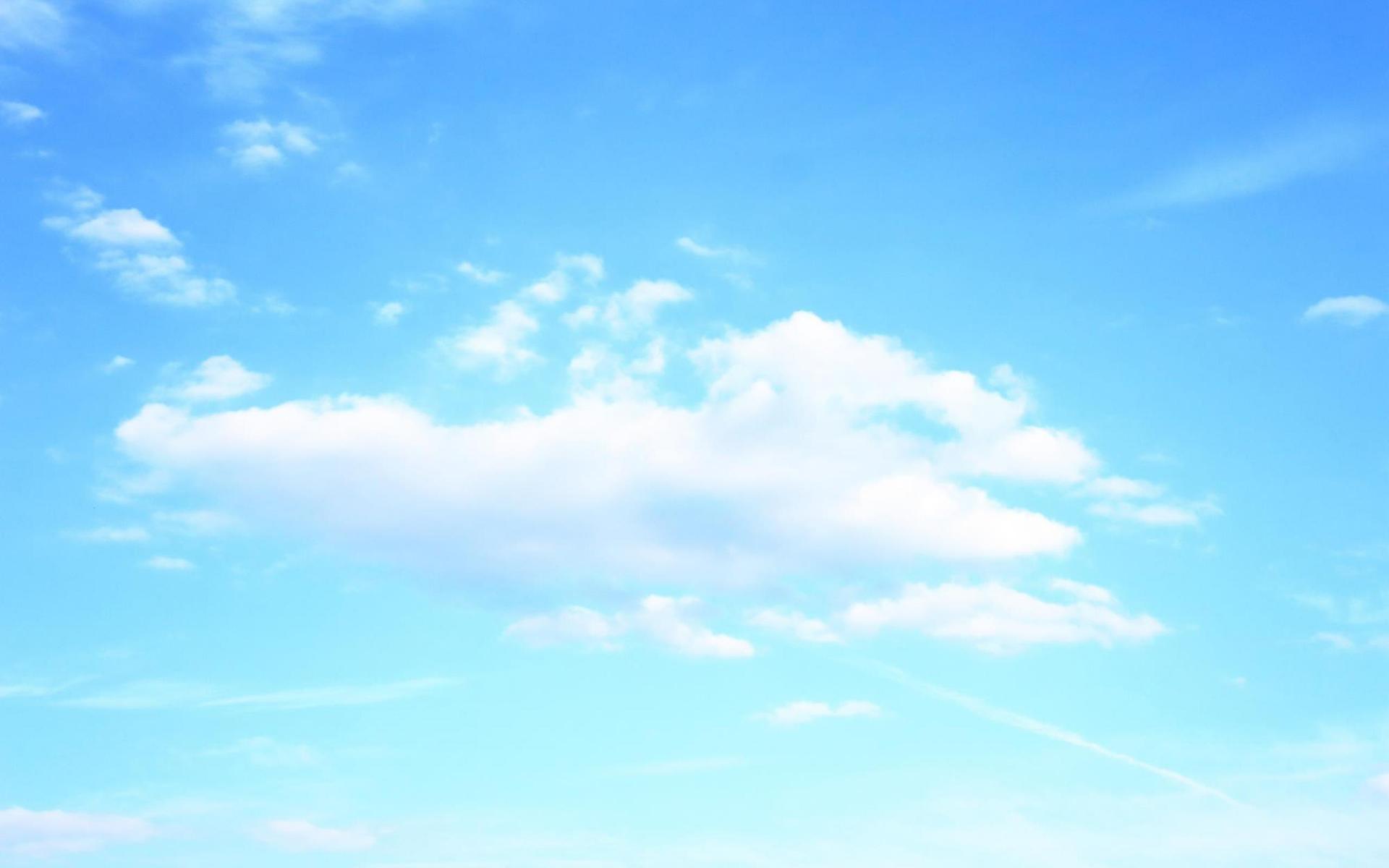 蓝色天空风景图片好看的电脑桌面壁纸