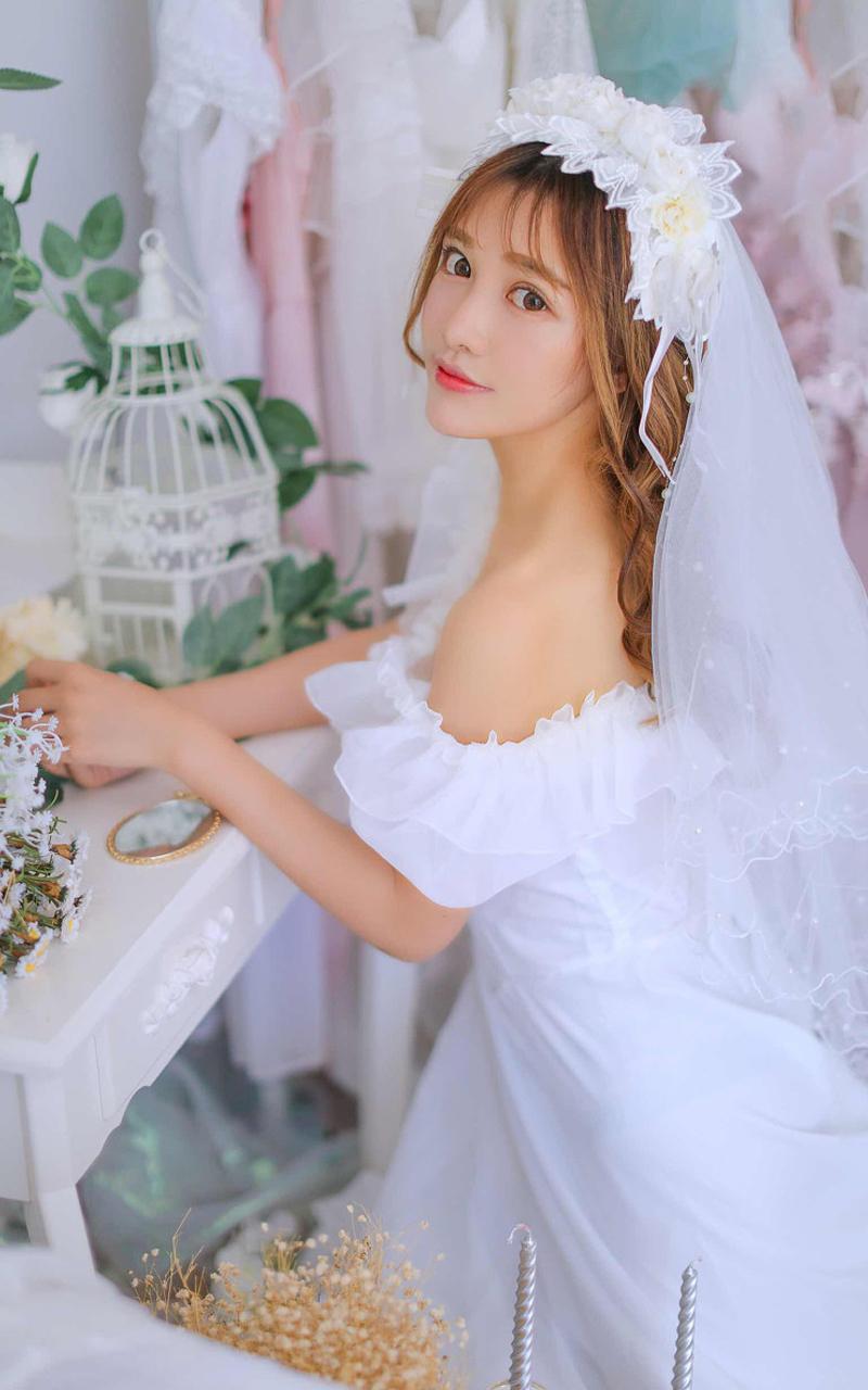 白色婚纱新娘梦幻日系小清新摄影写真照
