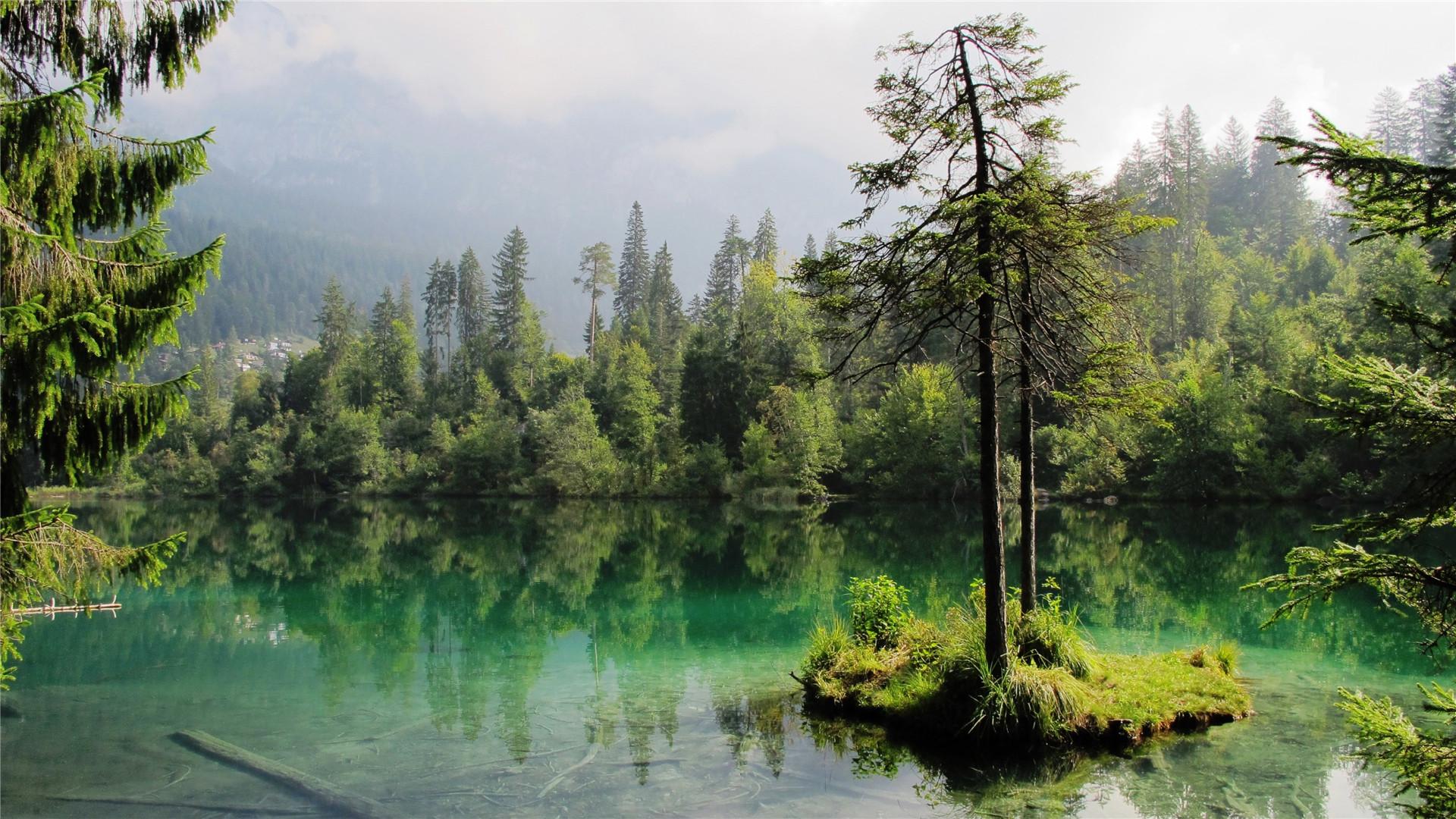 波光潋滟平静的湖泊高清手机壁纸