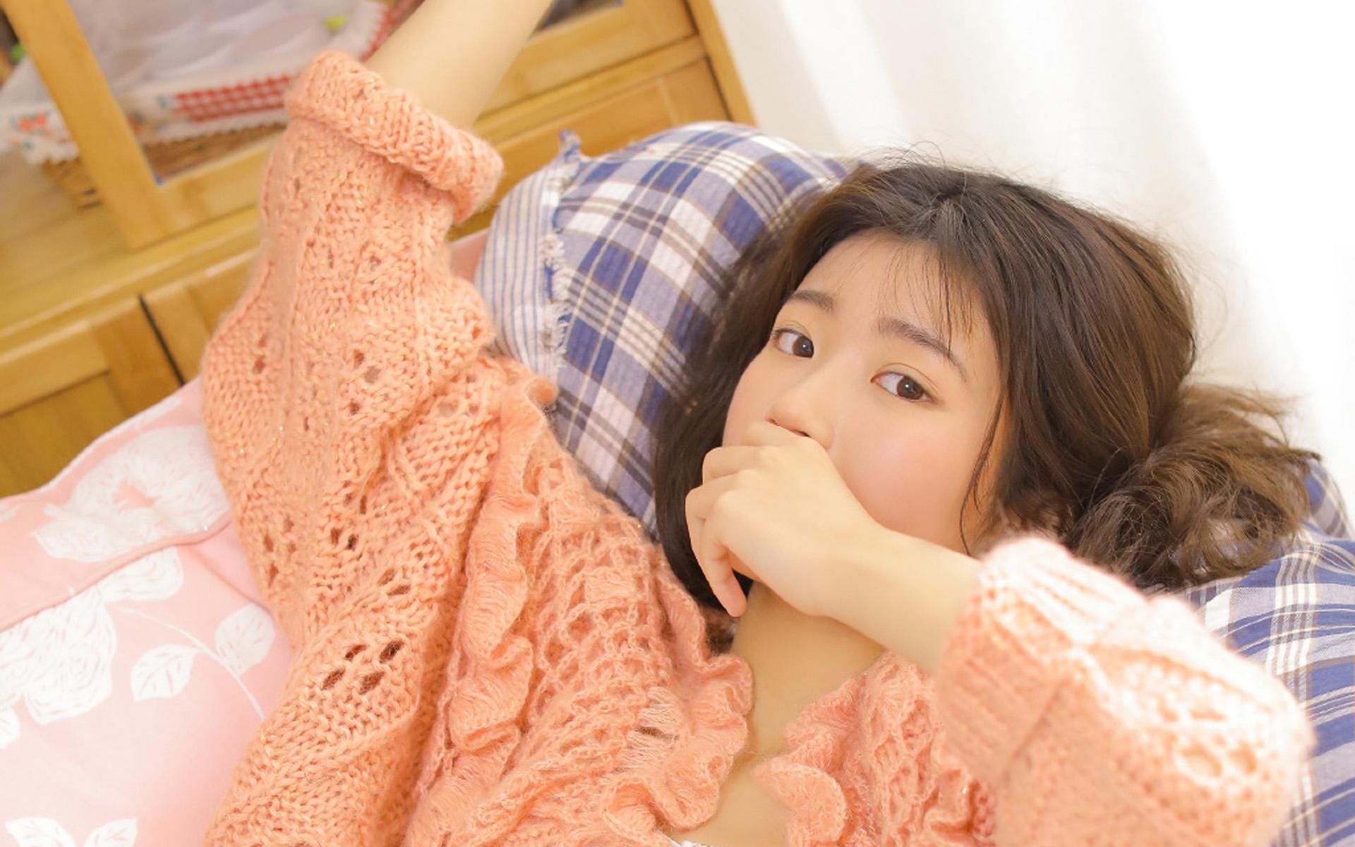 清纯日系美女小清新养眼唯美电脑壁纸