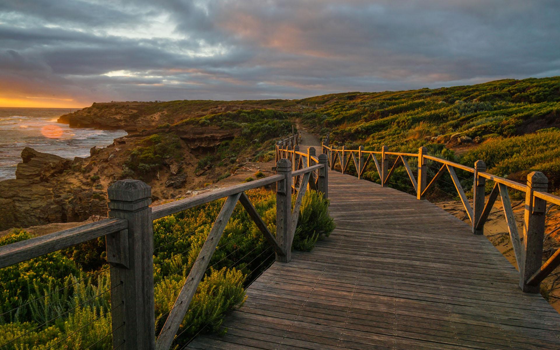 澳洲唯美护眼海边风景图片高清桌面壁纸