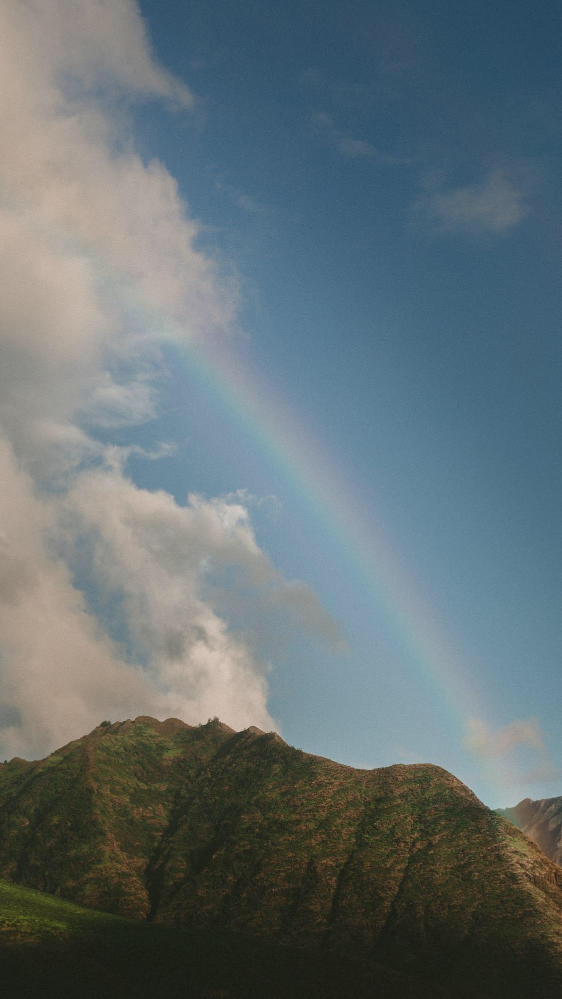 雨后彩虹唯美风景桌面壁纸