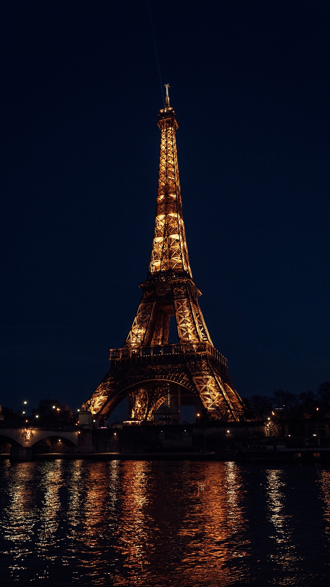 迷人的巴黎铁塔夜景手机壁纸图片