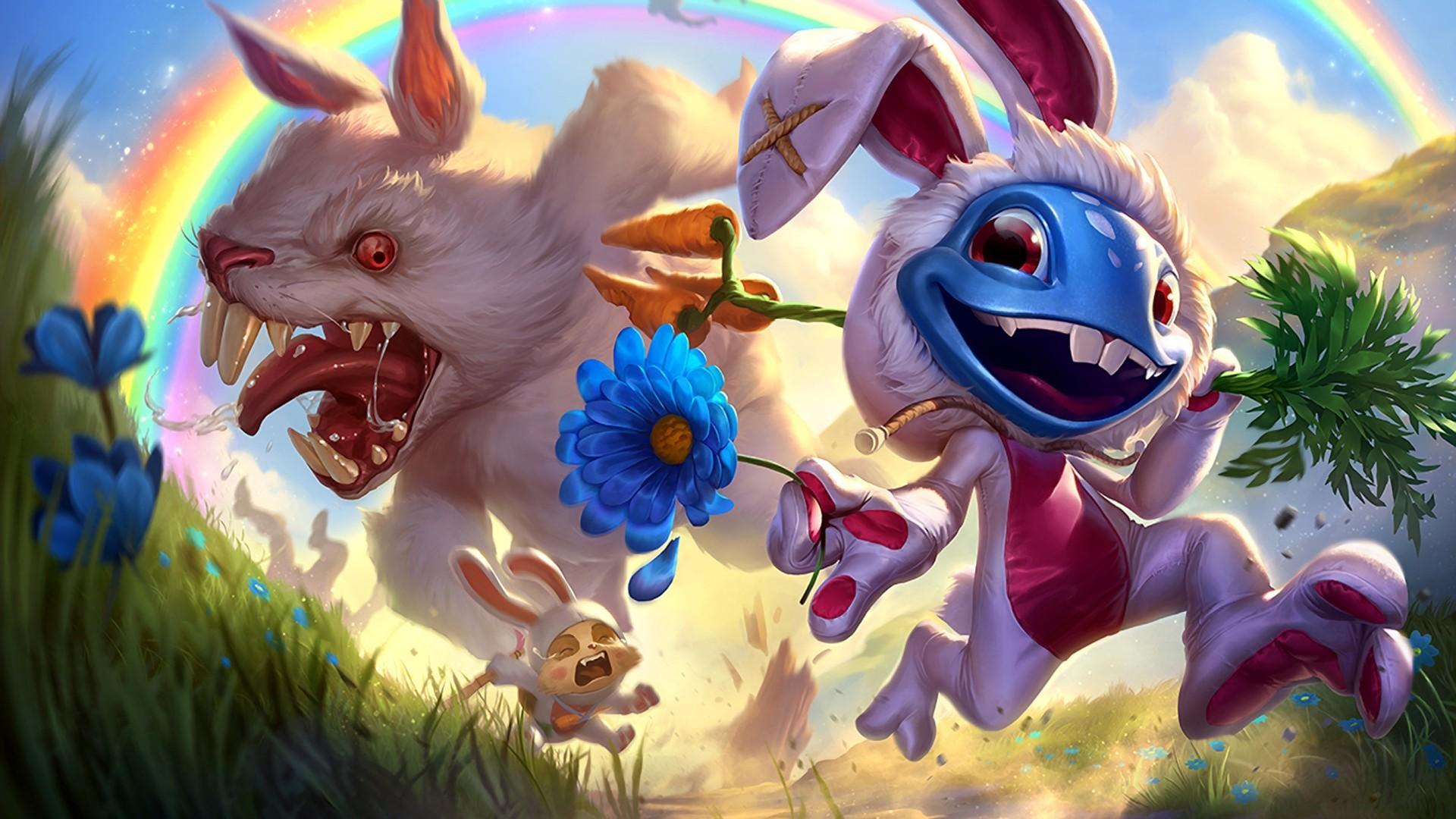 搞怪小兔游戏动漫壁纸图片