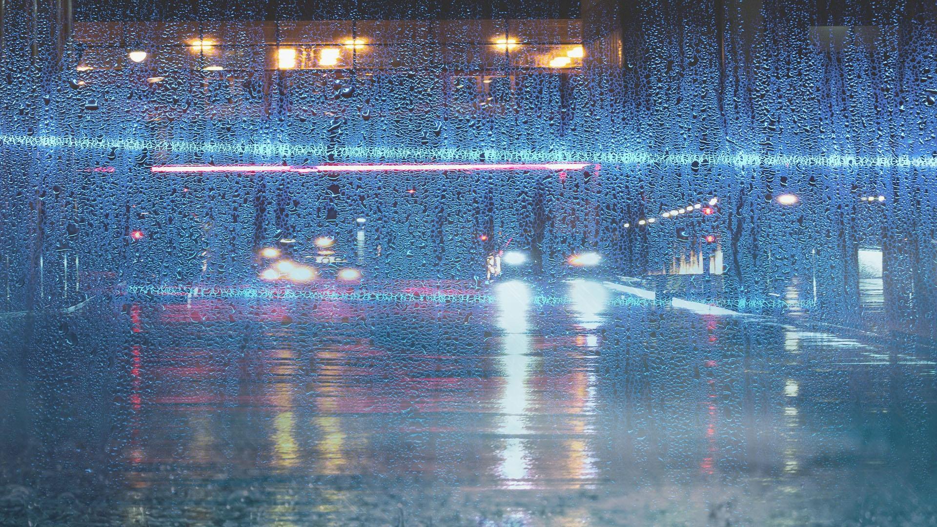 迷失在伤感的雨天图片