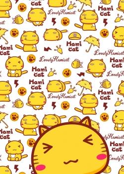 可爱软萌哈咪猫图片手机壁纸