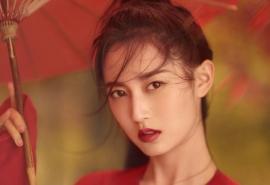 古风美人陈钰琪大红色汉服唯美中国风桌面